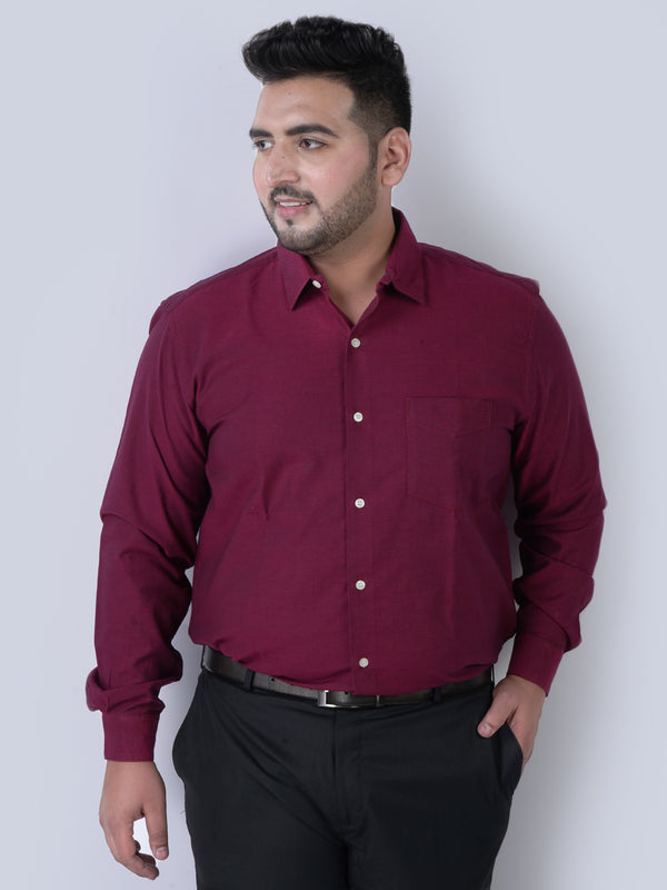 Oxford Royal Maroon Shirt - 4209B