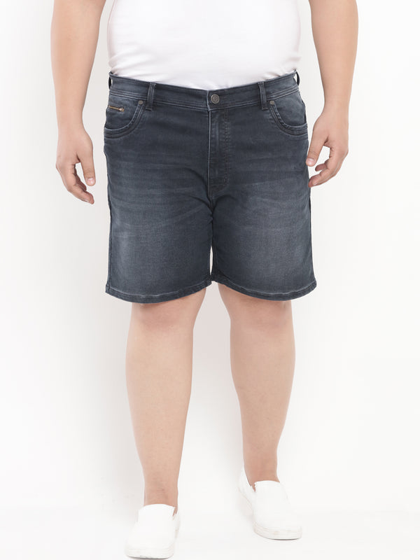Blue Denim Shorts-6622