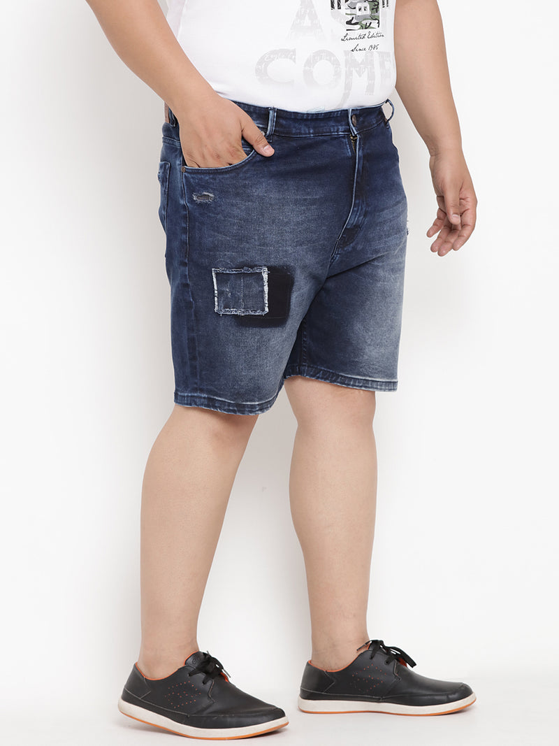 Space Blue Denim Shorts - 6626