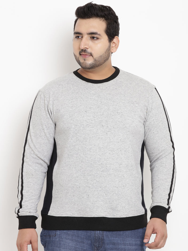 Grey Full Sleeve Sweatshirt- 7584