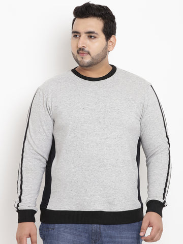Grey Full Sleeve Sweatshirt- 7530