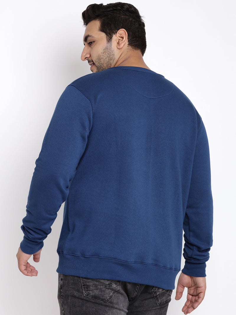 Blue Full Sleeve Sweatshirt- 7536A