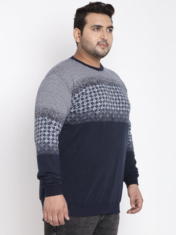 Navy Blue Full Sleeve Sweatshirt-7540