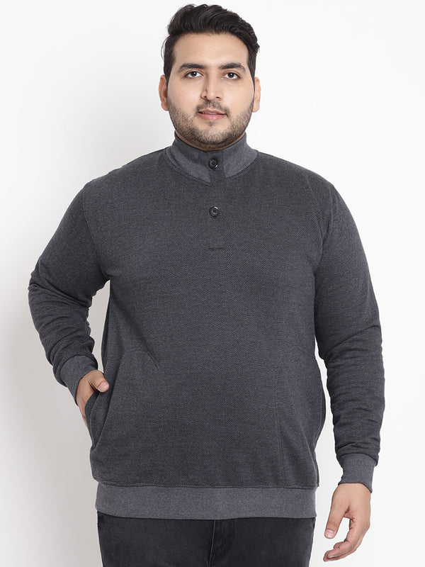 Grey Full Sleeve Sweatshirt- 7547