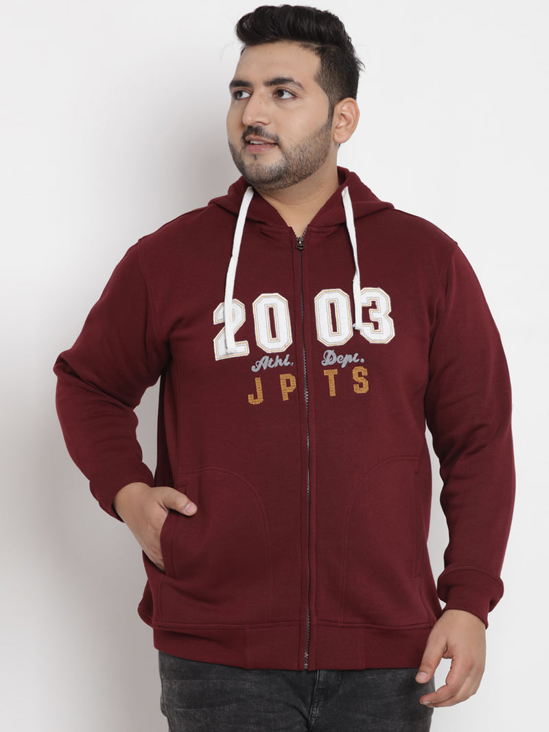 Maroon Fleece Hooded Sweatshirt- 7566A