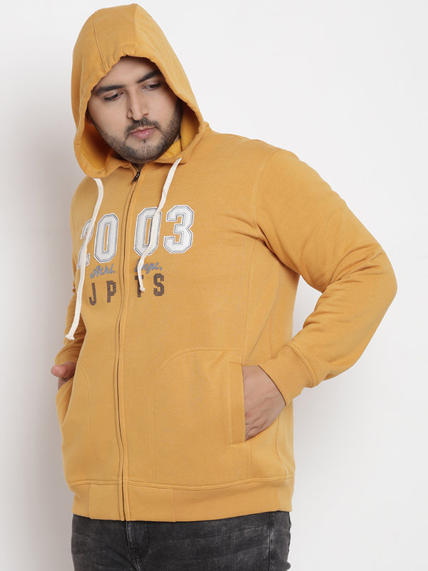Mustard Fleece Hooded Sweatshirt - 7566B