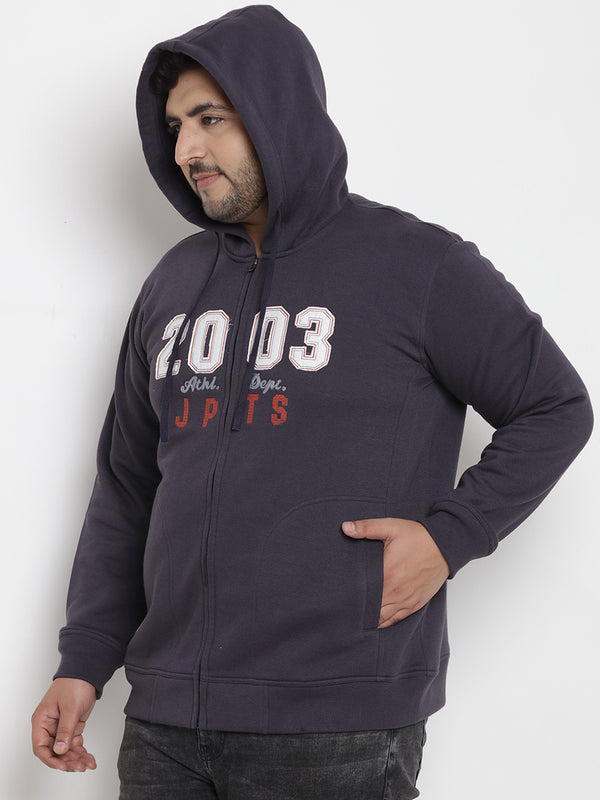 Blue Fleece Hooded Sweatshirt - 7566C