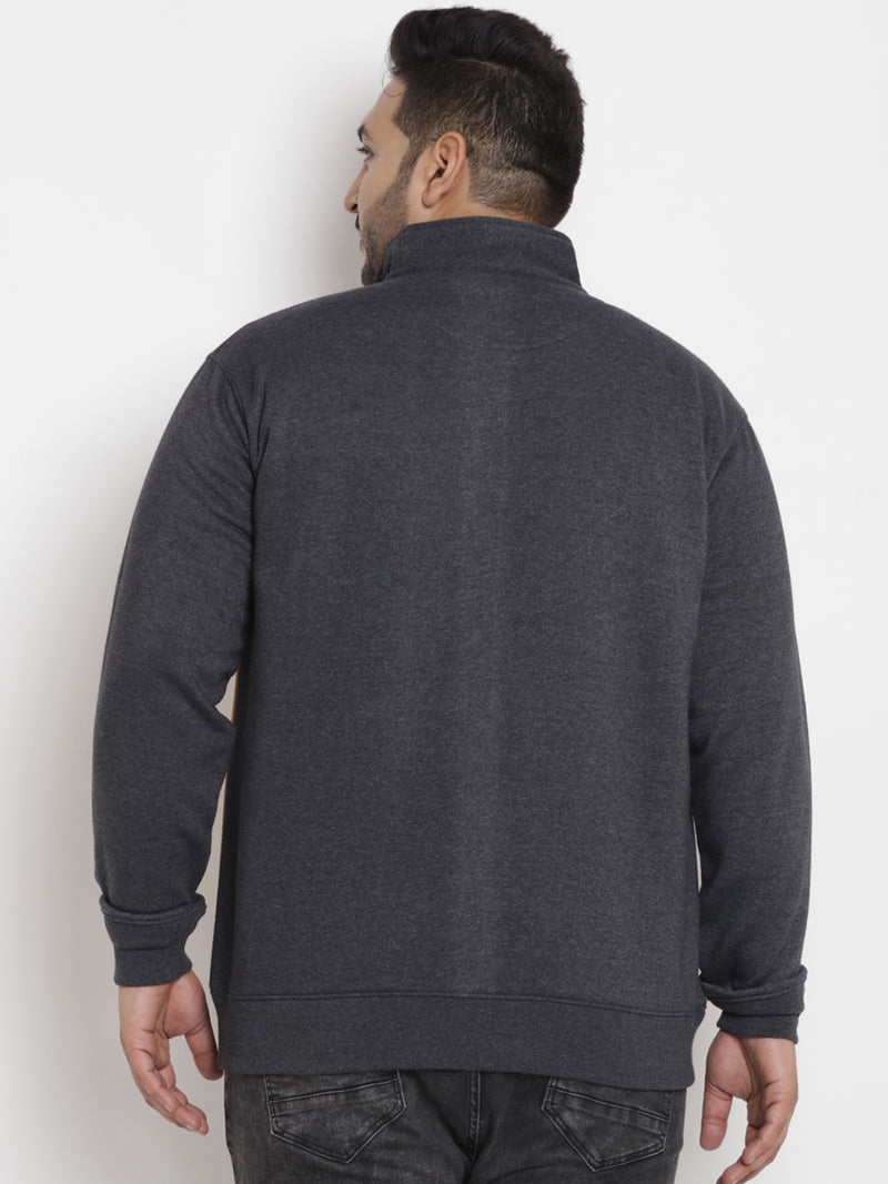 Grey 'JOHN PRIDE' Color blocked Sweatshirt- 7567B