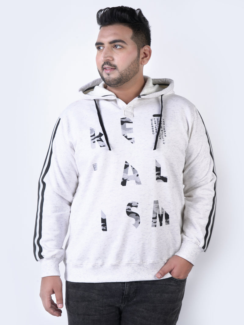 White Hooded Sweatshirt - 7571