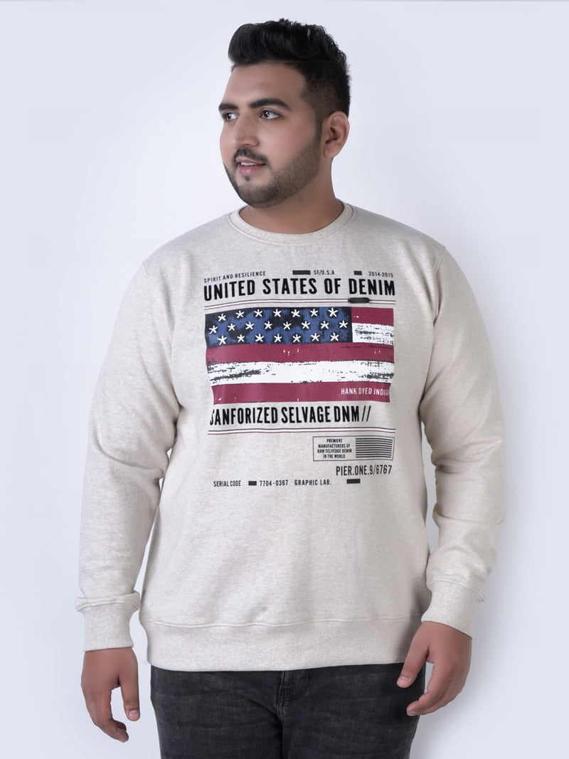 Off white FLAG ECRU Sweatshirt - 7575A