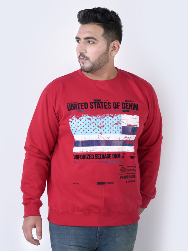 Red 'FLAG RED' Sweatshirt - 7575C