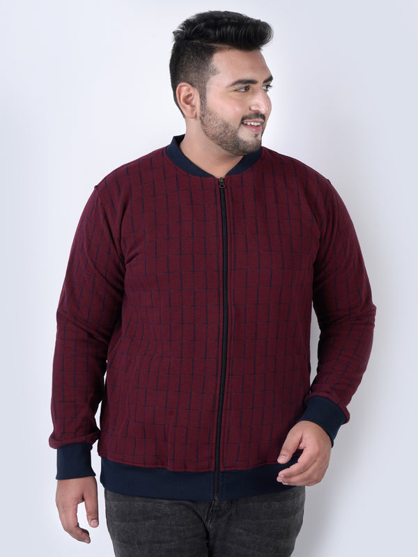 Check Maroon Sweatshirt - 7576C