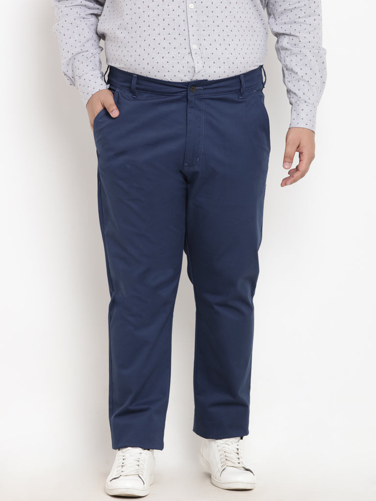 Navy Blue Cotton Trouser- 2128A