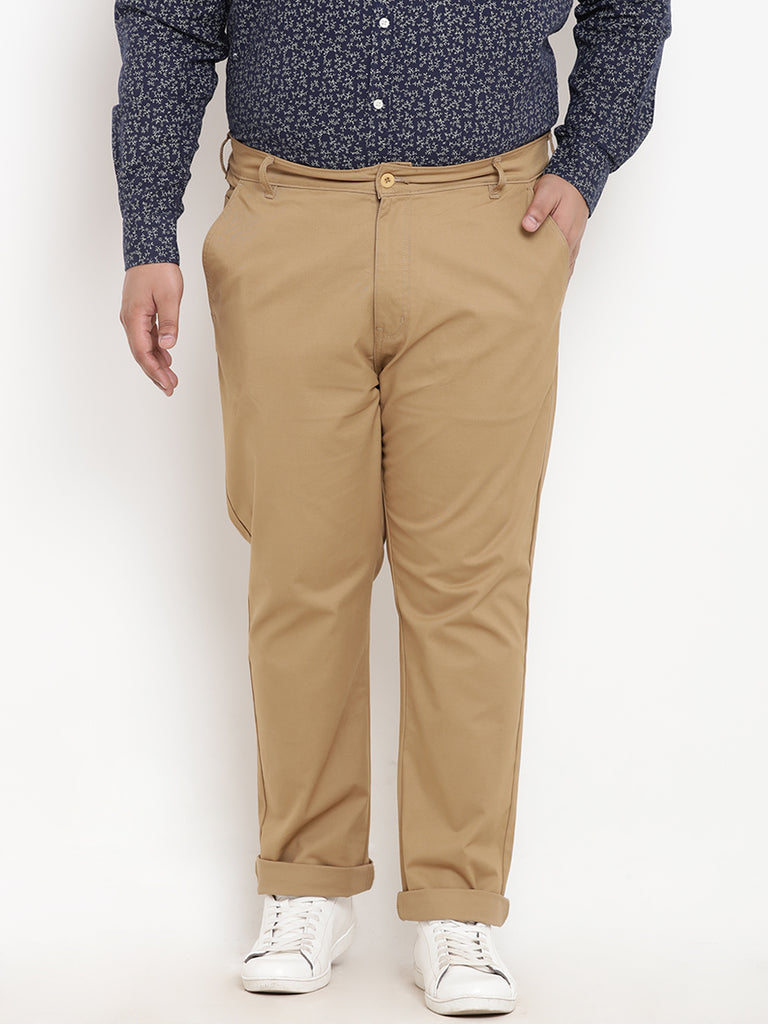 Khaki Cotton Trouser- 2128C