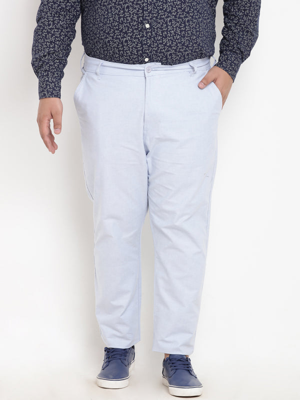 Light Blue Linen Trouser- 2150