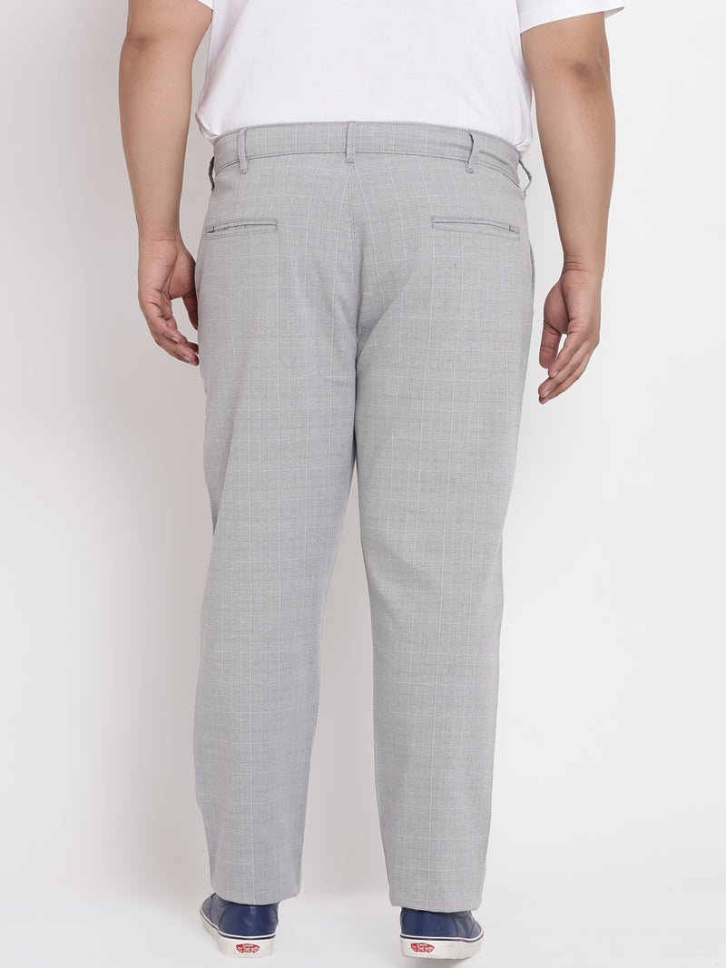 Grey Checked Cotton Trouser- 2130C