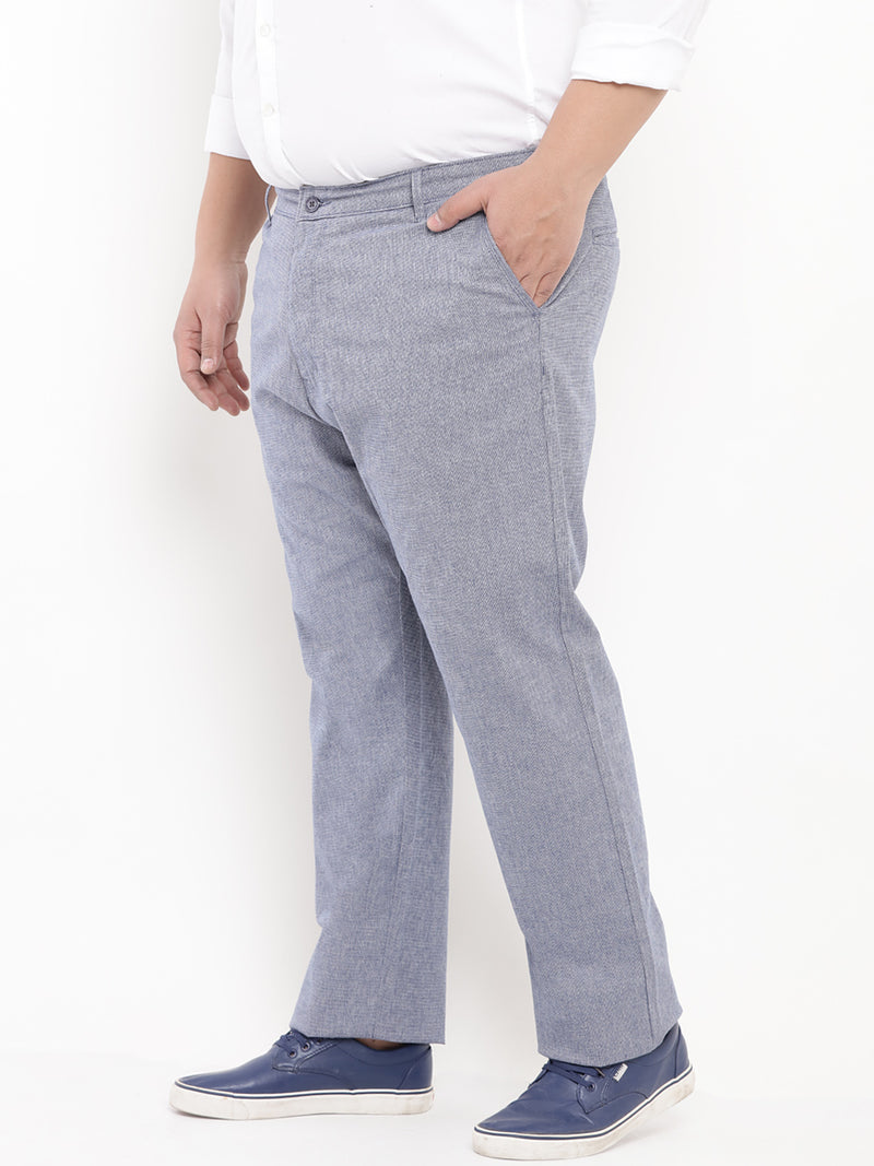 Blue Casual Stretchable Trouser-2131A