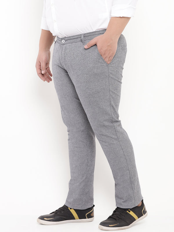 Grey Casual Stretchable Trouser-2131B