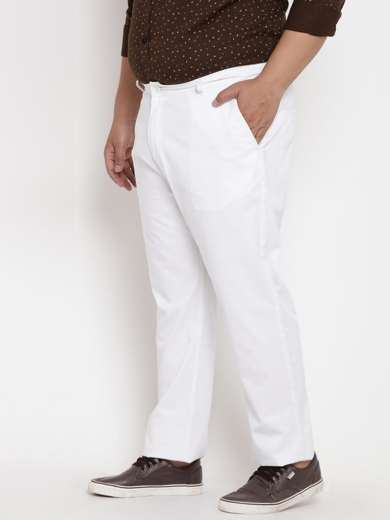 White comfort fit trouser - 2135