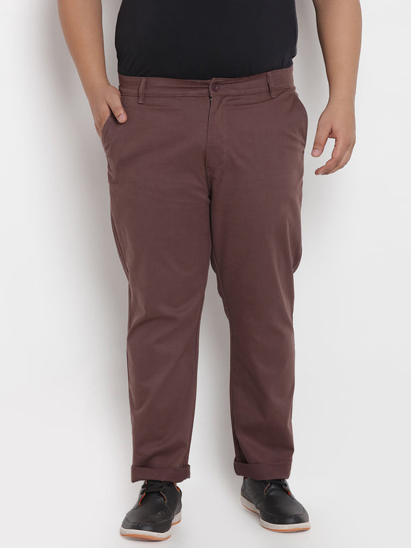 Brown Stretchable Casual Trouser - 2142C
