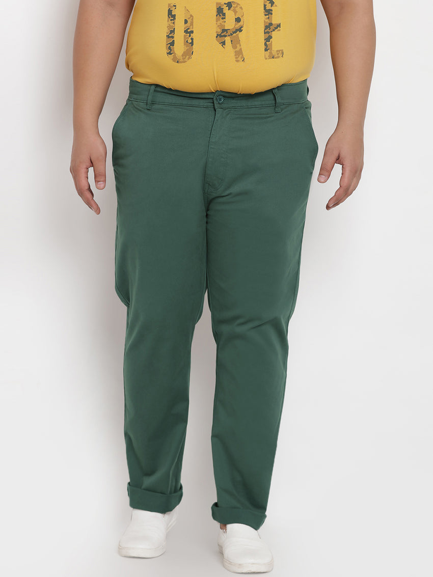Green Stretchable Casual Trouser - 2142D