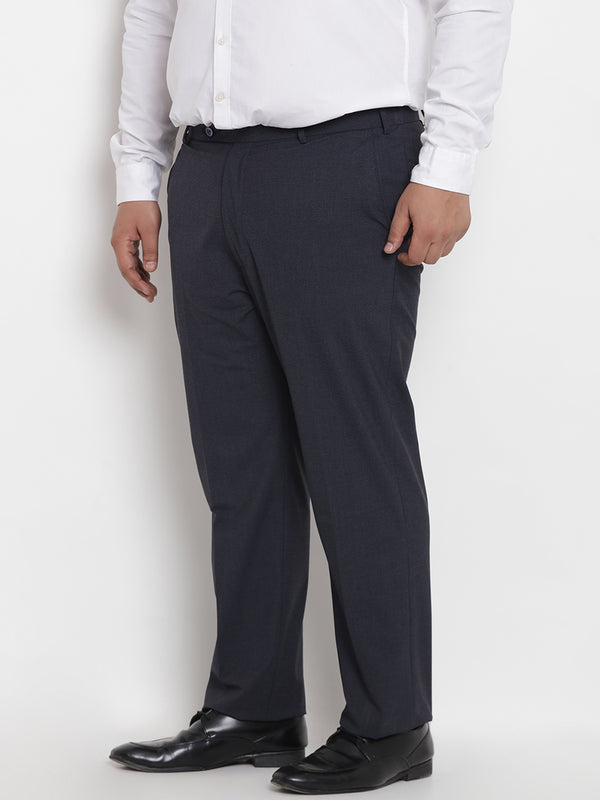 Navy Blue Stretchable Formal Trouser - 2222