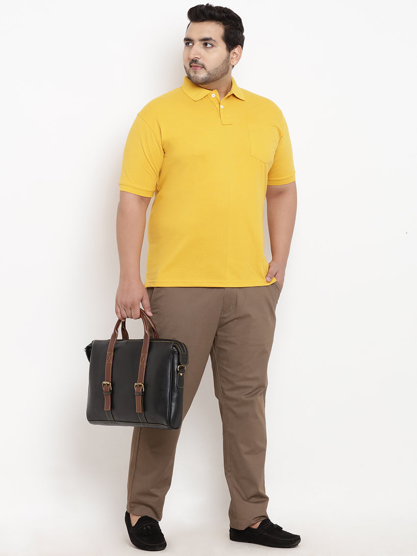 Unassuming Mustard Polo T-Shirt-  3105I