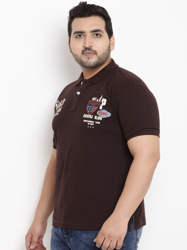 Unassuming Brown Polo T-Shirt- 3170A
