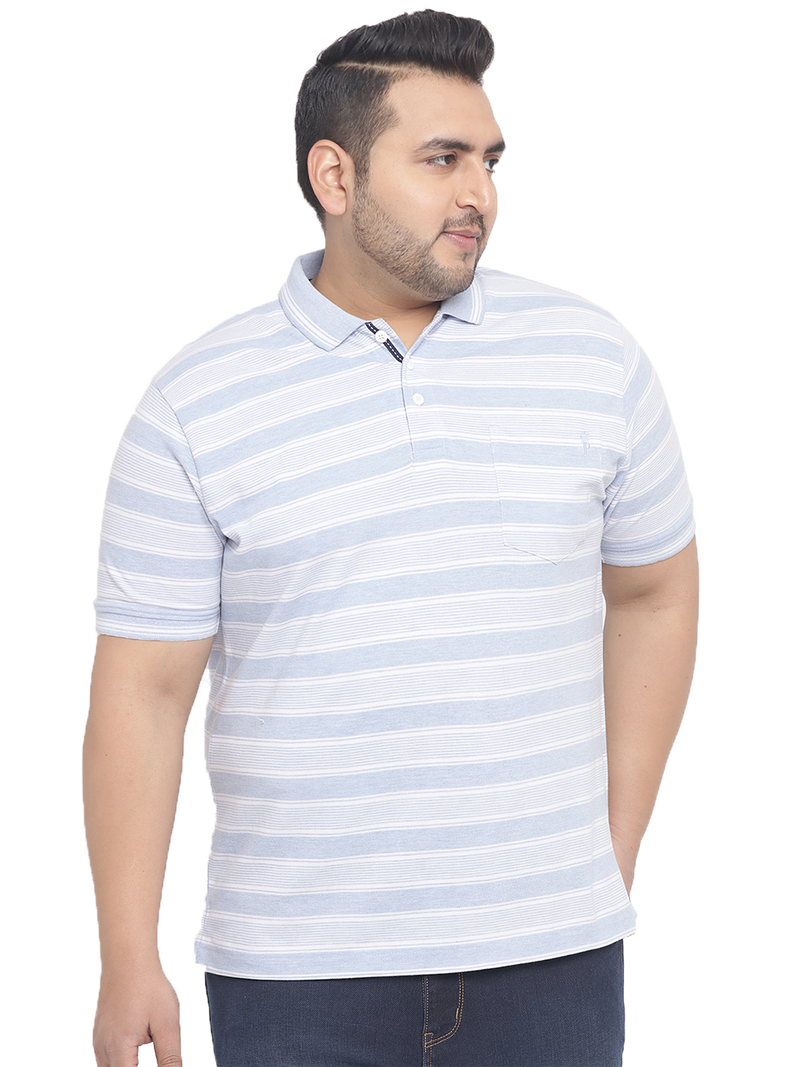 Striped Sky Polo T-Shirt-3191