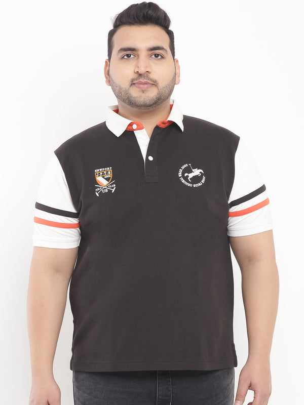 Black Polo T-Shirt-3198