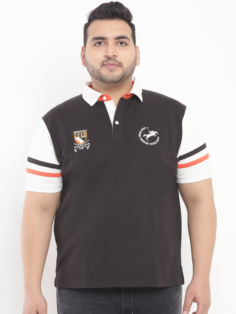 Black & White Polo T-Shirt-3198