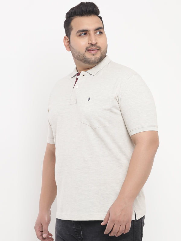Cream Polo T-Shirt-3202A
