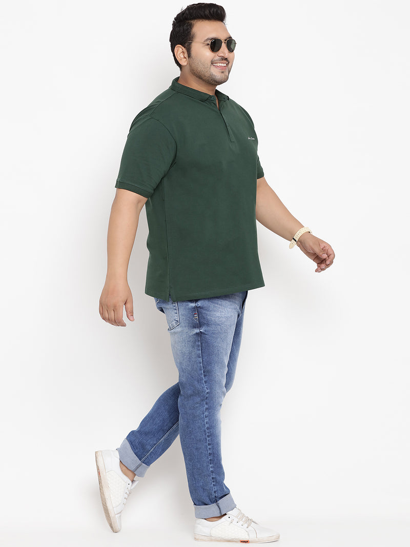 Sacramento Green Branding Stretchable Polo T-Shirt - 3217