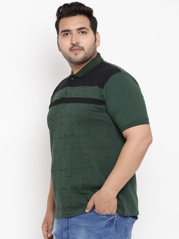 Sacramento Green Stretchable Polo T-Shirt - 3227