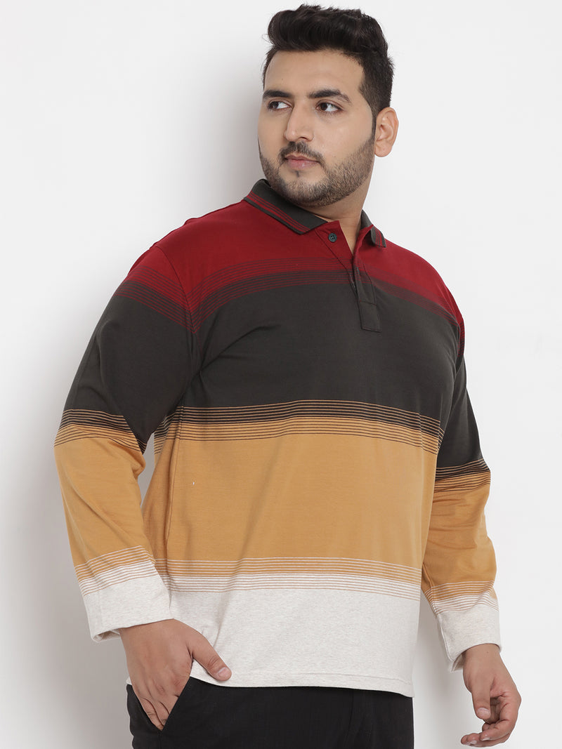 Multi Color Polo Stretchable T-Shirt- 3236A