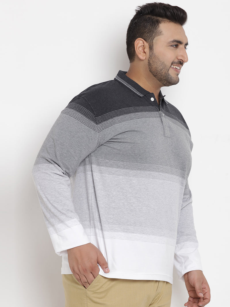 Grey Stretchable Full Sleeve T-Shirt - 3236B
