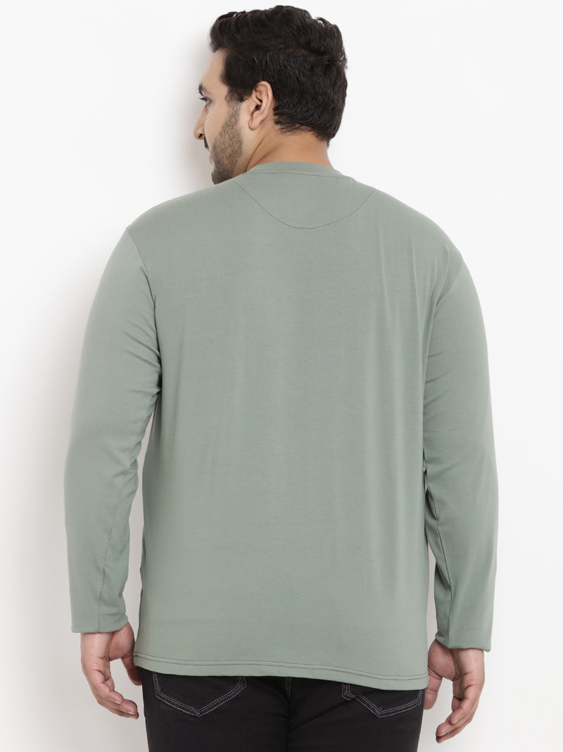 Pistachio Green full sleeve Round Neck Tee - 321B