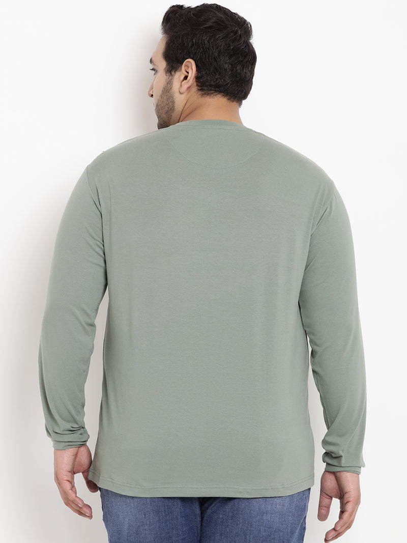 Pastel Green Full Sleeve Round Neck T-Shirt- 322A