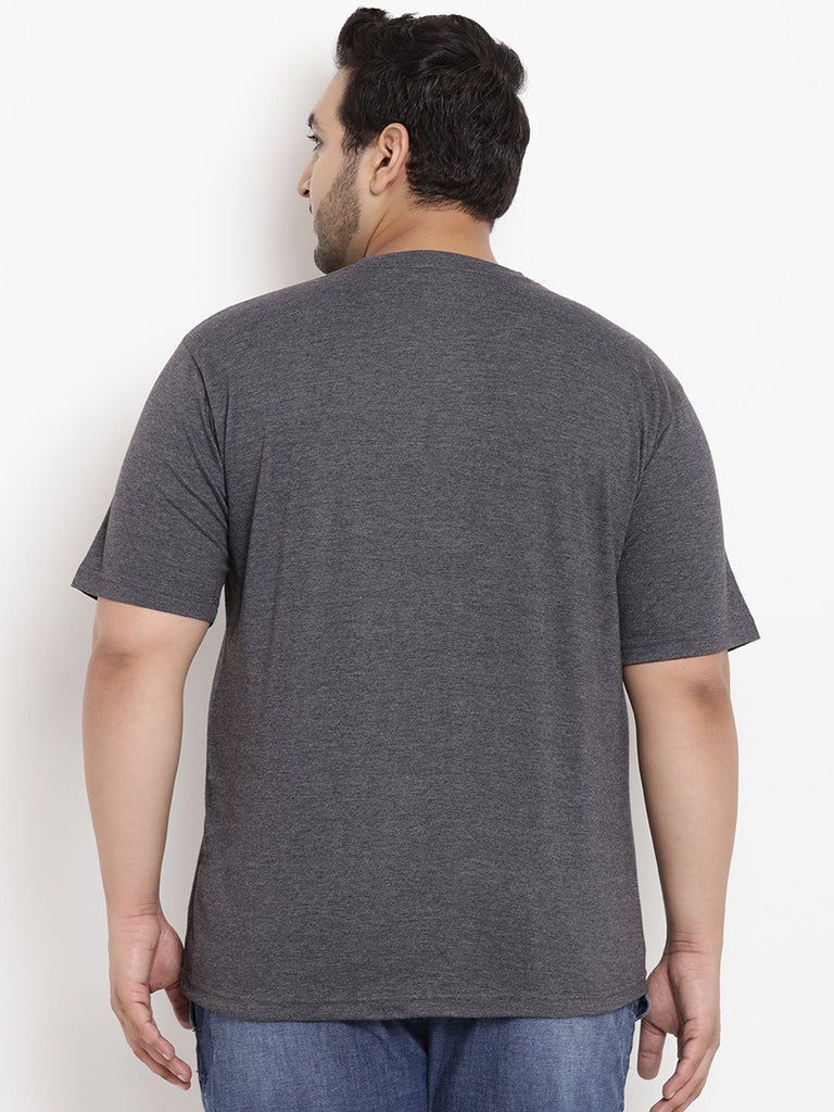Anthra Grey Half Sleeve Round Neck T-Shirt- 323B