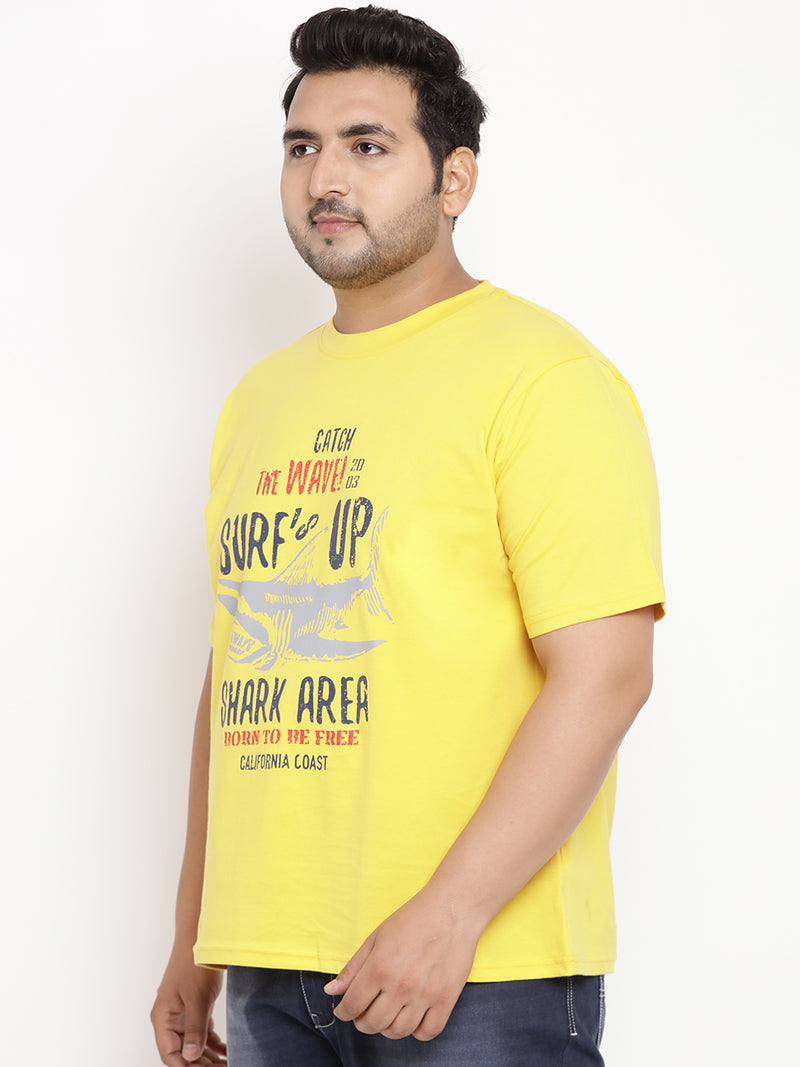 Canary Yellow 'SURF UP' Round Neck Tee - 345