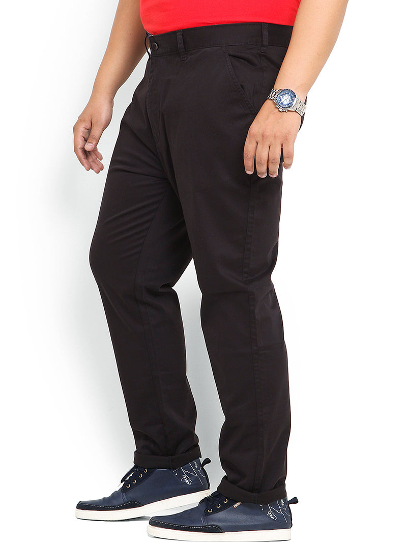Black Cotton Stretch Trouser- 1641
