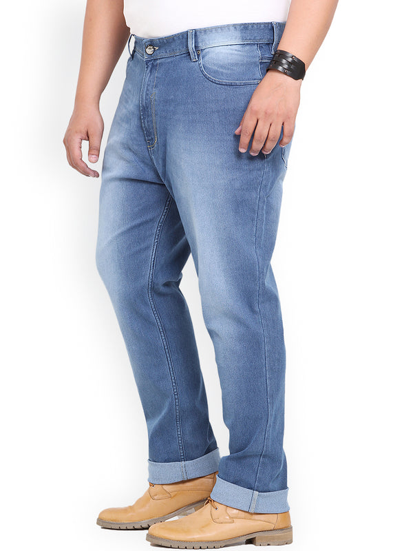 Light Blue Cotton Stretch Jeans- 1553