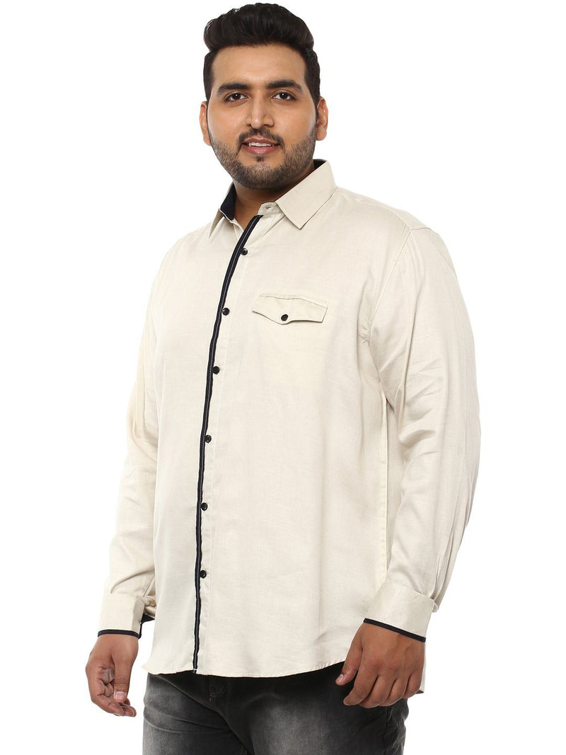 Beige full sleeve shirt