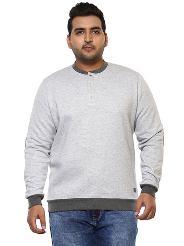 Grey Full Sleeve Sweatshirt-7520B