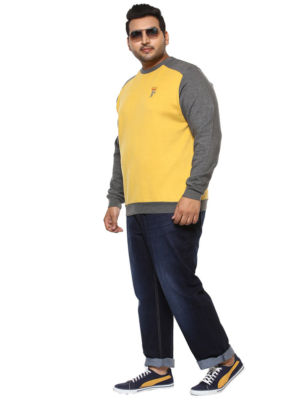 Yellow Full Sleeve Sweatshirt-7517