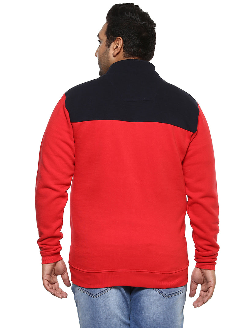Red Full Sleeve Sweatshirt-7519B