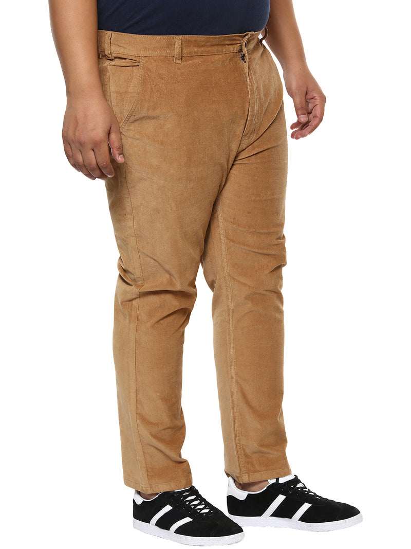 Tan Colored Corduroy Trouser-2155D
