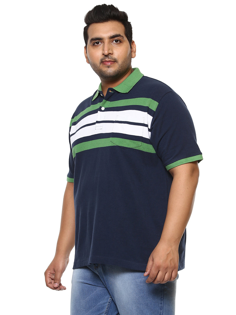 John Pride Navy Blue T-Shirt- 3154