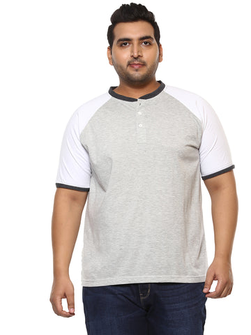 Grey Half Sleeve T-Shirt-302A