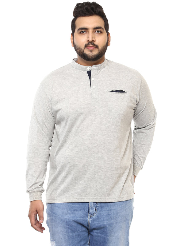 Grey Full Sleeve T-Shirt-307